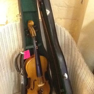 Cased Violin with bow