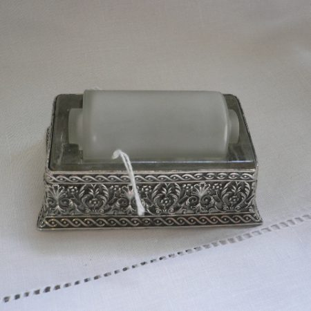 Silver Plate Stamp Roller