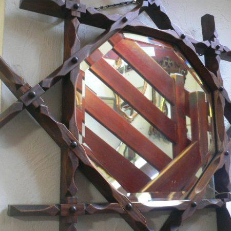 Victorian Pitch Pine Mirror
