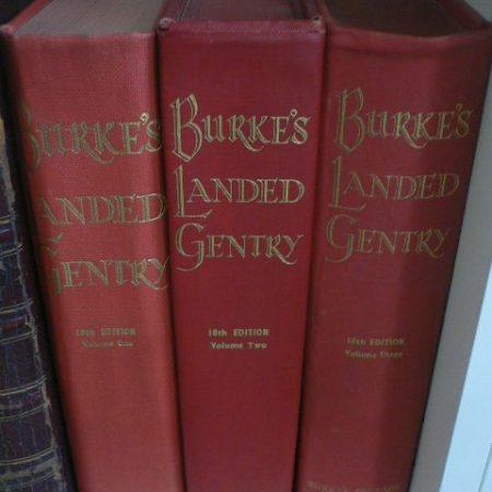 Vol 1,2 & 3 Burkes Landed Gentry