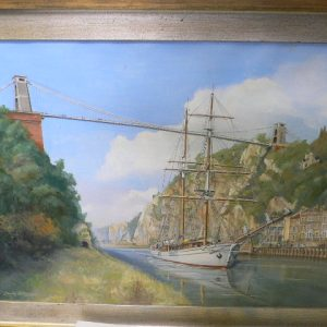 Memories of Bristol Oil Painting by David Elworth