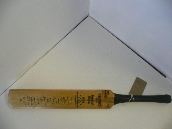 1958/9 Miniature autographed Cricket Bat