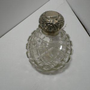 Silver Top Perfume Bottle