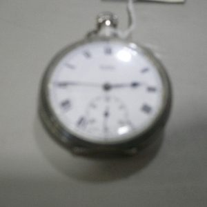 Buren Grand Prix Silver Pocket Watch