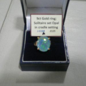 9ct Solitaire Set Opal