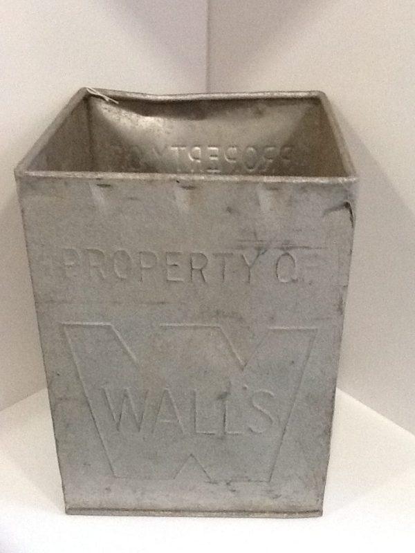 Vintage Galvanised Walls Ice Cream Box