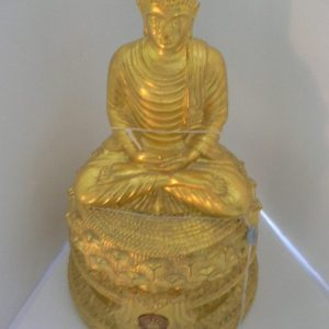 Cast Gilt Temple Buddha