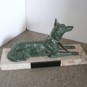 Art Deco Spelter Dog