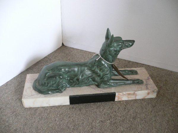 Art Deco Spelter Dog