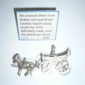 Silver goat and cart