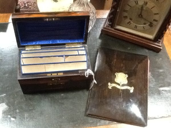 Victorian Coramandel a Stationery Box and Blotter