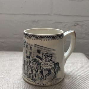Victorian cup, Lady Godiva, WW Woodward, Coventry