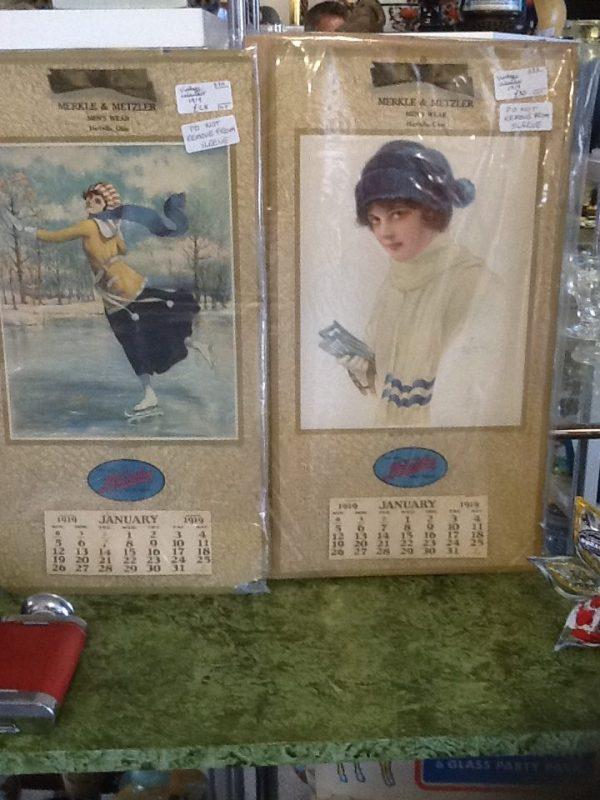 Vintage Calendat. Menswear Advertising